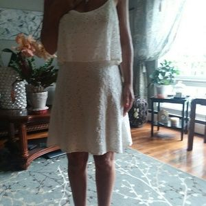 Abercrombie & Fitch Dresses - Abercrombie & Fitch White Eyelet Dress